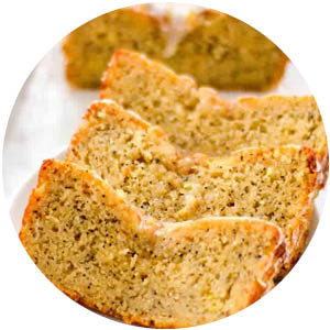 Lemon Poppyseed Paleo Dessert Bread