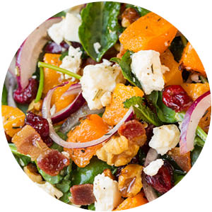 Butternut Squash Salad with Maple Rosemary Vinaigrette