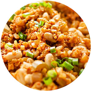 Creole Style Cauliflower Chicken Jambalaya