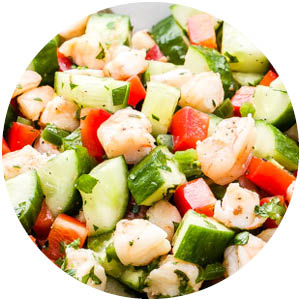 Cucumber Shrimp Salad with Lemon and Herbs