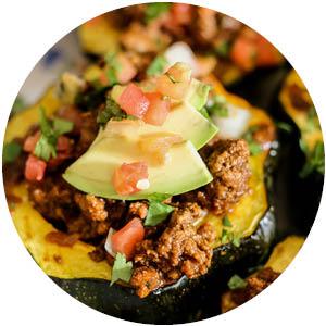 Enchilada Stuffed Acorn Squash