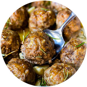 Garlic Rosemary Meatballs