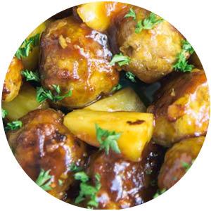Chicken Pineapple Meatballs