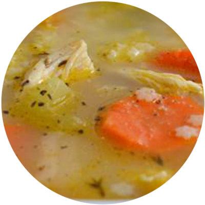 Chicken No-Noodle Soup
