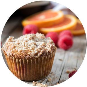 Orange Raspberry Dessert Muffins